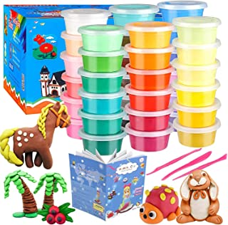 36 Colors Air Dry Clay Modeling Clay, Moulding Craft Clay, Super Light Clay Set for Kids and Teens with Tools, Creative Ar...