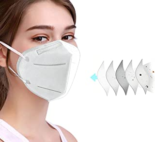 50 Pack NEWMARK JIDIAN 5-Ply Effective Daily Shields 99.6@3 microns Filtration For Protection of Nose and Mouth Against Un...