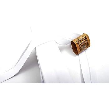 Inastri - Cinta bies de algodón, 25/5/ 5 mm, Color Blanco: Amazon ...