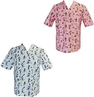Casaca de uniforme de enfermero/hospital, para pediatría, estampado infantil para terapia con payasos
