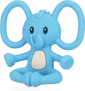 Nuby Yogis All Silicone Soothing Teether, Elephant