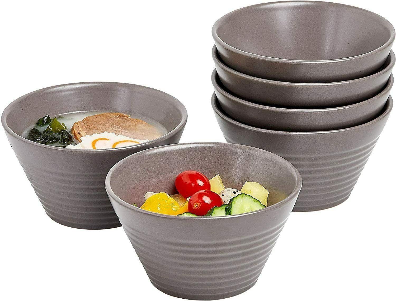 Ceramic 2021 spring and summer shop new Dessert Bowls Salad Serving 13 Graysal of 6 OZ Set