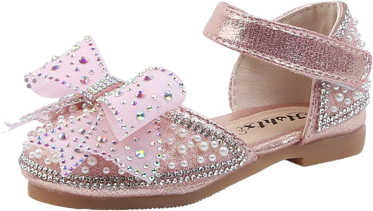 Toddler Kids Girls Kansas City Mall Ballet Flats Selling and selling Sweet Shoe Crystal Bowknot Shoes