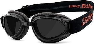 HELLY - No.1 Bikereyes   Motorradbrille, Bikerbrille   winddicht, gepolstert, beschlagfrei, HLT Sicherheitsglas nach DIN EN 166   TOP Tragegefühl bei langen Ausfahrten   Motorradbrille: 1331b-a