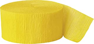 Unique 53408 Crepe Streamer, 81 feet Length, Hot Yellow, Crepe Streamers
