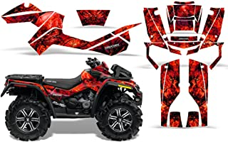 CreatorX Can-Am Outlander 800 Xmr Graphics Kit Decals Stickers Inferno Red