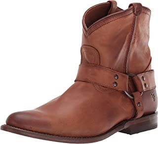 FRYE Womens Wyatt Harness Short Western Boots