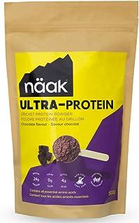 Näak Protein Powder Chocolate (15 Servings, 500g), Cricket Protein Powder, BCAAs, Amino Acid, Non Dairy, Keto-Friendly, Gl...