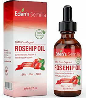 100% Pure Rosehip Oil - 60ml - Certified ORGANIC -