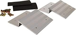 """CargoSmart 8"""" Aluminum Ramp Plate Kit (2pk) – Create Your Own Ramp to Easily and Safely Load and Unload ATVs, Motorcycles, Lawn Equipment and More, Can Be Used with Trucks, Vans or Trailers"""