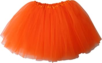 So Sydney Ballerina Basic Girls Ballet Dance Dress-Up Princess Fairy Costume Dance Recital Tutu (Neon Orange)
