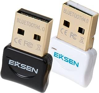 蓝牙 CSR 4.0 USB 加密狗适配器,EKSEN 蓝牙发射器和接收器支持 Windows 10、8、7、Vista、XP 32/64 位笔记本电脑,适用于蓝牙扬声器、耳机、键盘等NA