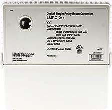 Wattstopper LMRC-211 Box Mount Single Relay On/Off Digital Dimming Room Controller 120 - 277 Volt AC 800Milli-Amp White