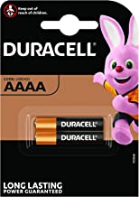 Duracell Specialty Alkaline AAAA Battery 1.5 V, (LR8D425) Designed for Use in Digital Pens, Medical Devices and Headlamps, Pack of 2