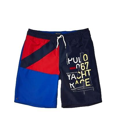 Polo Ralph Lauren Kids Printed Poly Captiva Trunks (Big Kids) (Newport Navy Multi) Boy