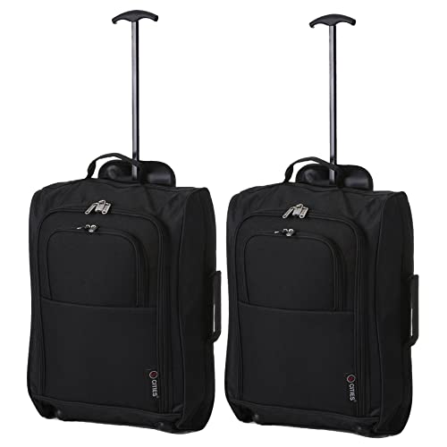 334ca22d1 5 Cities The Valencia Collection Equipaje de cabina SET OF 2 TB023-830  Black,
