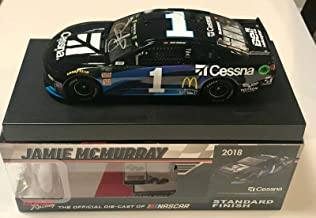 2018 Jamie McMurray Cessna McDonalds NASCAR Signed Auto 1/24 Diecast Car COA - Autographed Diecast Cars