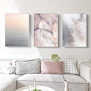 Pastel couleur mur Art Simple toile peinture neutre Blush rose gris affiche nordique salon peinture murale Art décor 30x40...