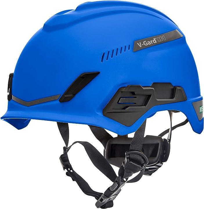 Elmetto di sicurezza per arrampicata - ventilato - blu - 52-64 cm msa v-gard h1 trivent 10194785