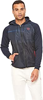 Sergio Tacchini Sports Lifestyle Track Top Jacket for Men, Size M (Navy)