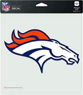 NFL Denver Broncos 8-by-8 Inch Diecut Colored Decal