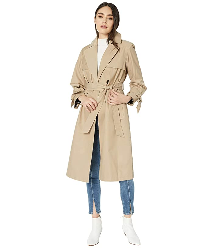 1940s Style Coats and Jackets for Sale Sam Edelman Cotton Double Breasted Trench Bow Sleeve Sand Womens Clothing $81.00 AT vintagedancer.com