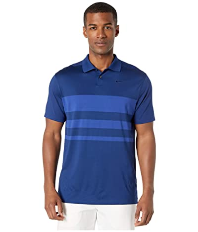 Nike Golf Dry Vapor Polo Stripe (Blue Void/Deep Royal Blue/Blue Void) Men
