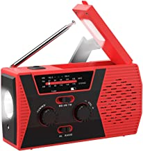 Emergency Solar Hand Crank Portable Radio, NOAA Weather Radio for Household and Outdoor Emergency with AM/FM, LED Flashlig...