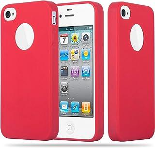 46f254b177e Cadorabo Funda para Apple iPhone 4 / iPhone 4S en Candy Rojo – Cubierta  Proteccíon de