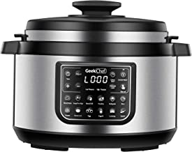 Geek Chef 8 Qt 12-in-i Multiuse Programmable Electric Pressure Cooker Oval, Slow Cooker,..