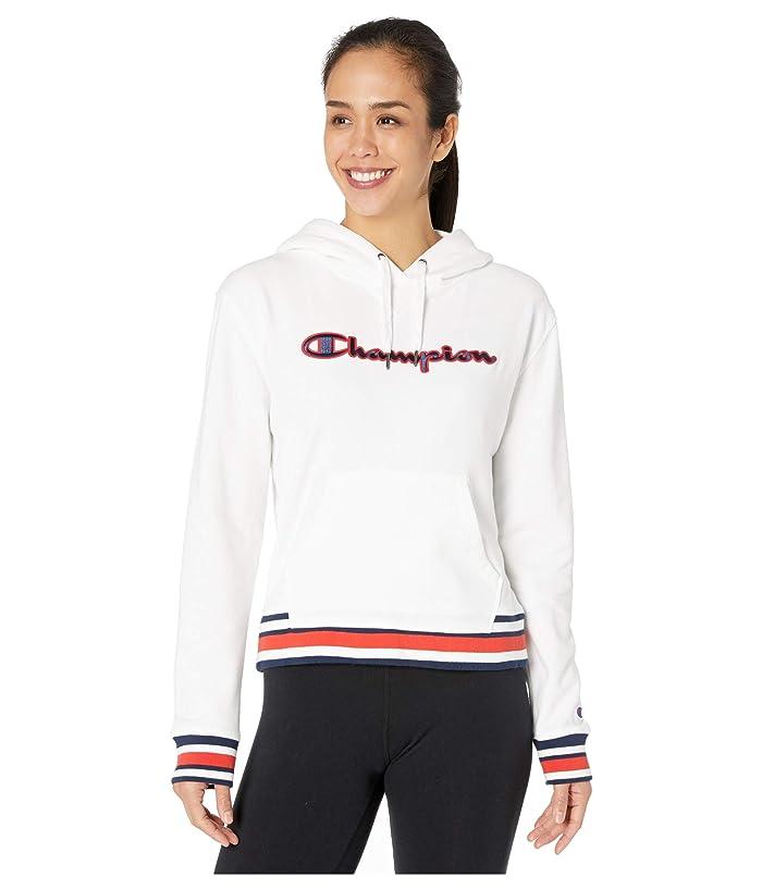 Champion  Campus French Terry Hoodie (White) Womens Sweatshirt