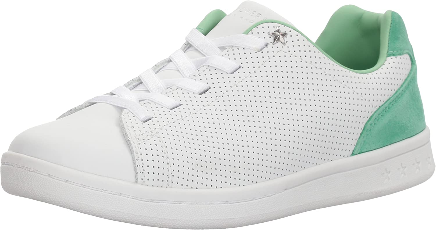 Skechers Womens Darma - Perforated Leather Sneaker