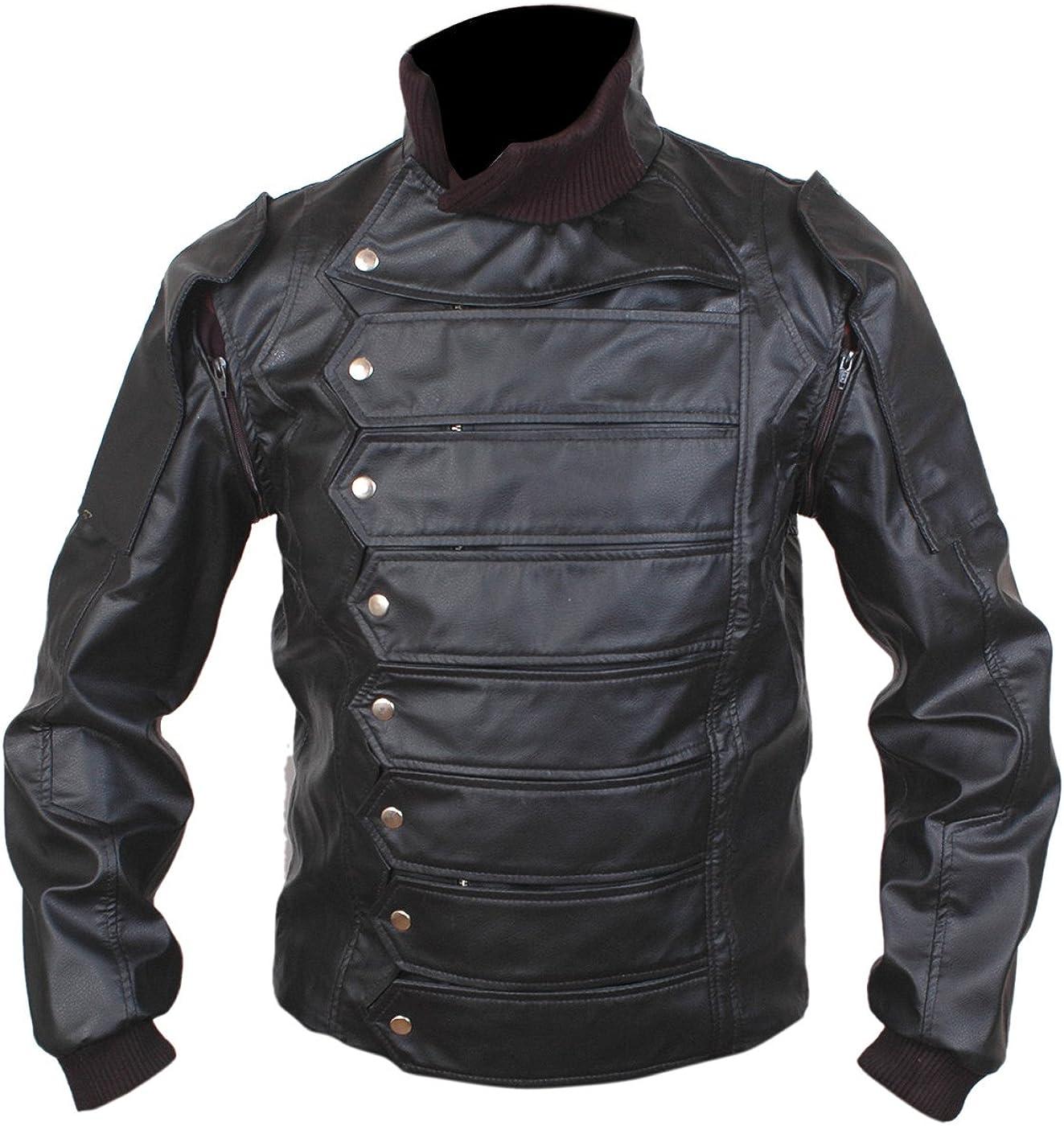 Women's Men's UNIQUE Design Black Leather Jacket