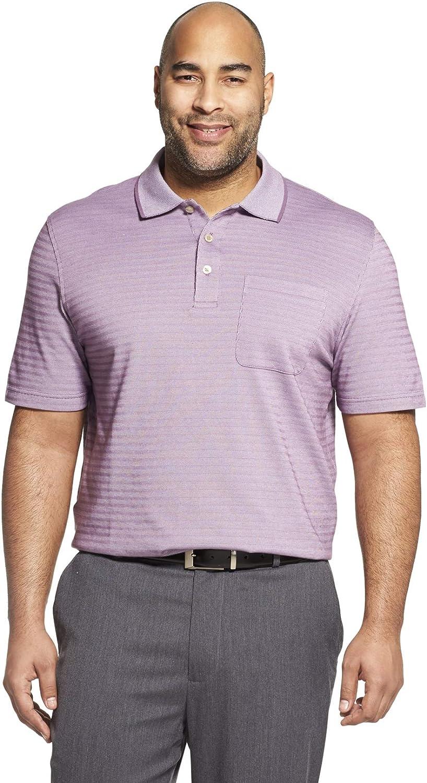 Van Heusen Men's Big and Tall Flex Short Sleeve Stretch Stripe Polo Shirt