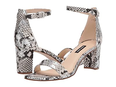 Nine West Pruce Block Heeled Sandal (Natural Multi 1) Women
