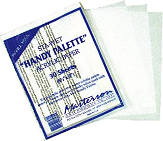 Masterson Sta-Wet Handy Palette pack of 30 handy palette acrylic paper 8 1/2 in. x 7 in.,White