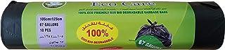 Eco Care Black Garbage Bag Roll, 10s, 67 Gallon - 105X 125