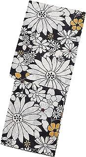 [ KIMONOMACHI ] オリジナル 浴衣単品「黒マーガレット」