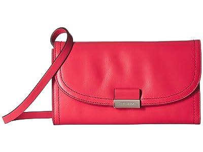 Cole Haan Lock Smartphone Crossbody (Teaberry) Handbags