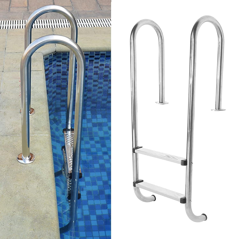 SALENEW very popular Pool Hand Railing Heavy Duty Easy-to-use 2-Step Step Steel La Stainless