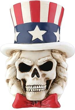 Uncle Sam Skeleton Head Collectible Skull Figurine