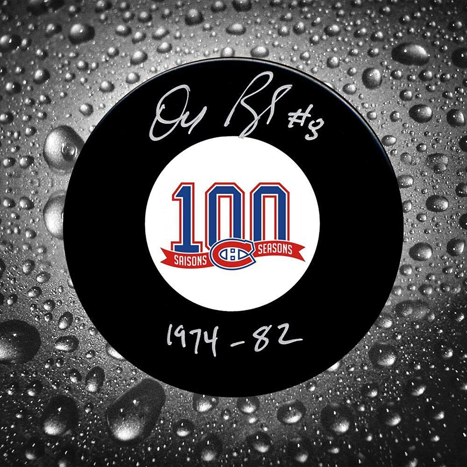 Doug Risebrough Autographed Puck  100th Anniversary  Autographed NHL Pucks