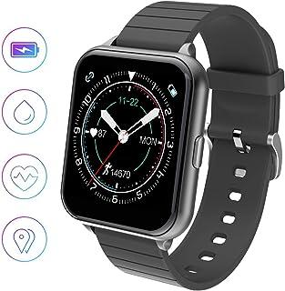 jpantech Smartwatch, Reloj Inteligente Impermeable IP68 para Hombre Mujer niños, Pulsera de Actividad Inteligente con Monitor de Sueño Contador de Caloría Pulsómetros Podómetro para Android iOS
