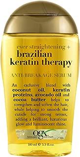 Ogx Ever Straight Brazilian Keratin Therapy Anti-Breakage Serum, 3.3oz