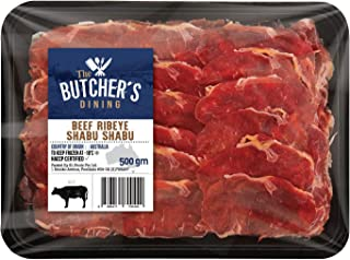 The Butcher's Dining Beef Ribeye Shabu Shabu, 500g - Frozen
