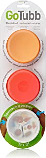 Humangear GoTubb 3-Pack Medium (2oz) Clear/Orange/Red