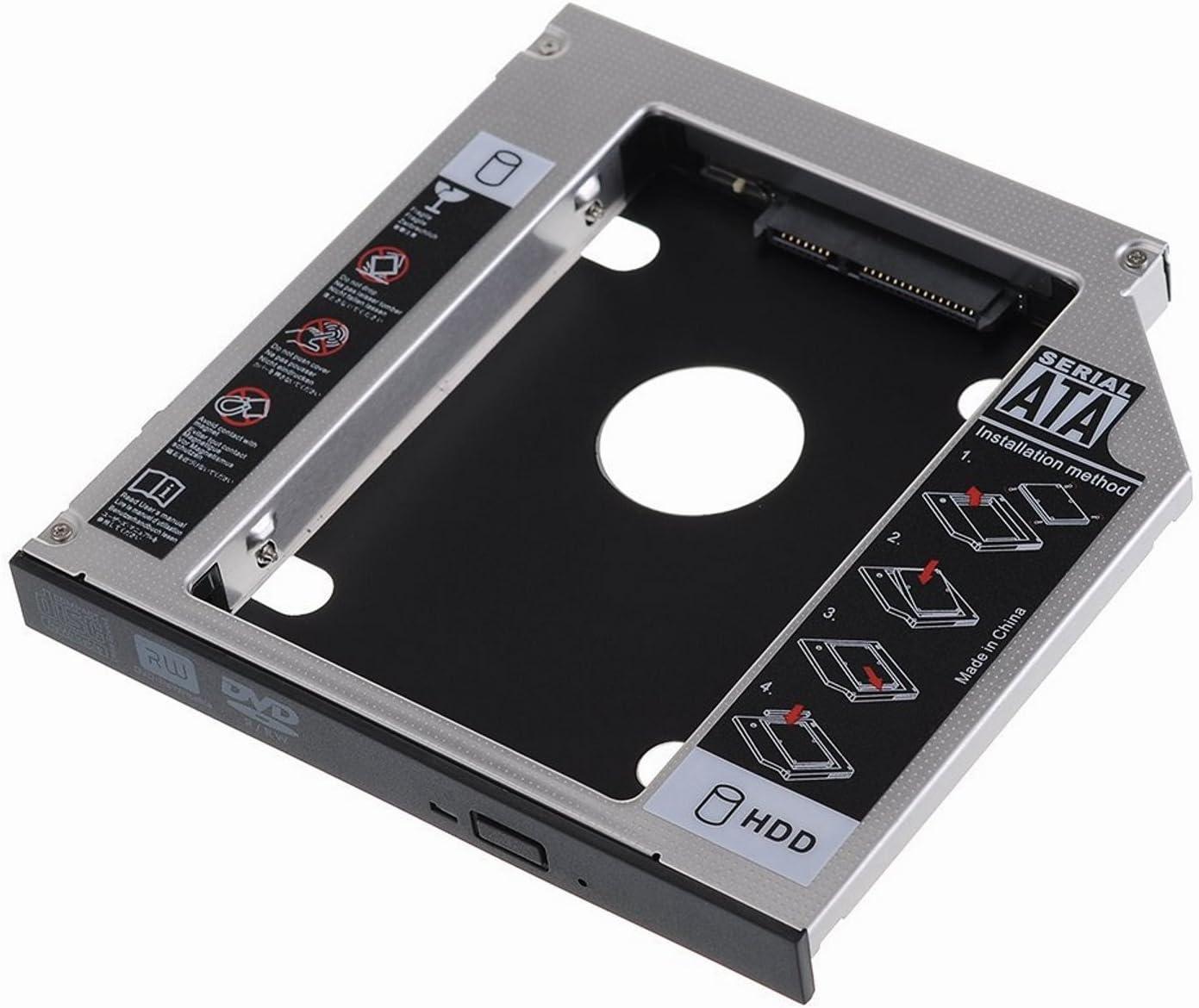 SATA III SSD/HDD Caja de instalación en Optical bahìa CD/DVD/BLU-Ray de 12.7 mm de Altura
