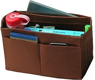 [Fits IENA MM, Dark Brown] Felt Organizer, Bag in Bag, Wool Purse Insert, Customized Tote Organize, Cosmetic Makeup Diaper Handbag