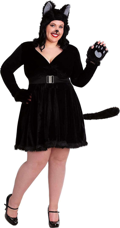 Fun Costumes Plus Size Women's Black Cat Fancy dress costume 5X