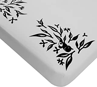 Nanit Smart Sheets - Works with All Nanit Cameras to Measure Your Baby's Growth, 100% Cotton Fitted Sheets, Pebble Grey, O...